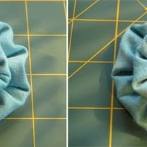 kwiatki z materiału - krok 12