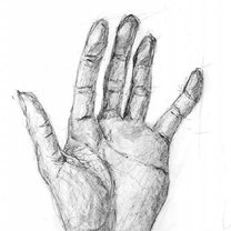 szkic dłoni