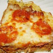 Pizza ze spaghetti