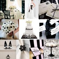 czarny kolor przewodni wesela