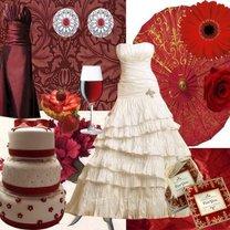 czerwony kolor przewodni wesela