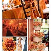 pomarańczowy kolor przewodni wesela