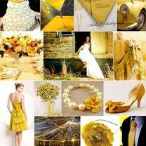 żółty kolor przewodni wesela