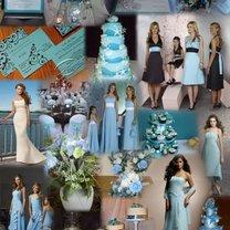 niebieski kolor przewodni wesela