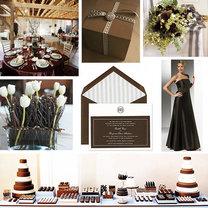 brązowy kolor przewodni wesela