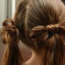 kokardka z włosów