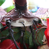 Bukiet ślubny kaskadowy 9