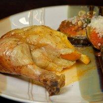 Pieczony kurczak z pomarańczami