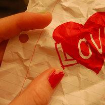 Kartka papieru, miłość