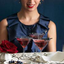 Martini z jagodami i granatem