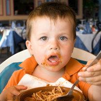 Dziecko je spaghetti