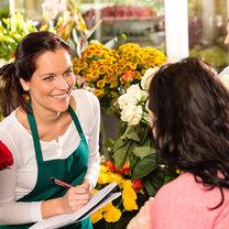 wizyta w kwiaciarni