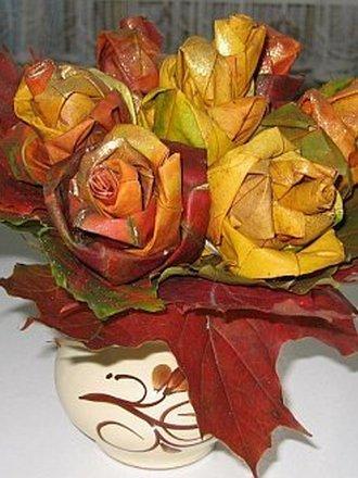 kwiaty z liści