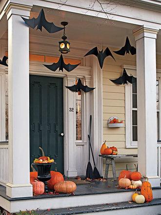 Wiszące nietoperze z papieru na Halloween