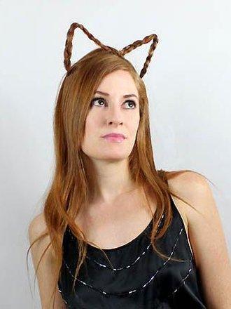 Kocie uszy z włosów
