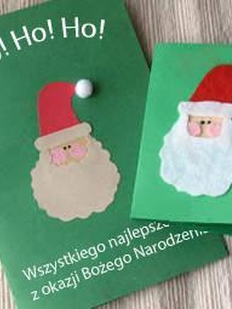 Kartka bożonarodzeniowa z Mikołajem - zrób to sam