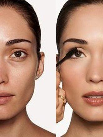 makijaż twarzy - przed i po