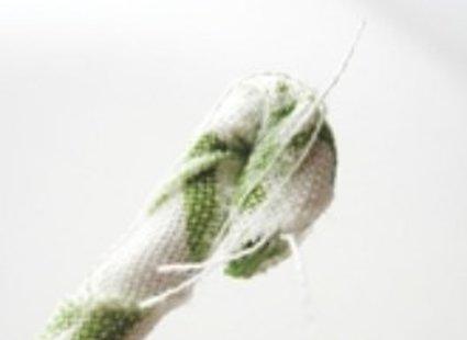 zwijanie końca sznurka
