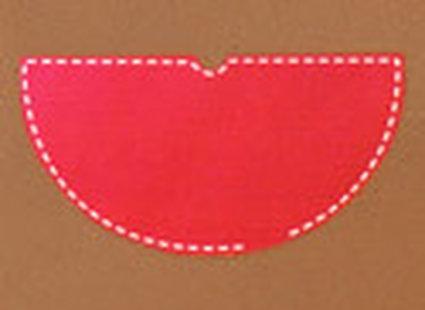 strój czerwonego kapturka - krok 3