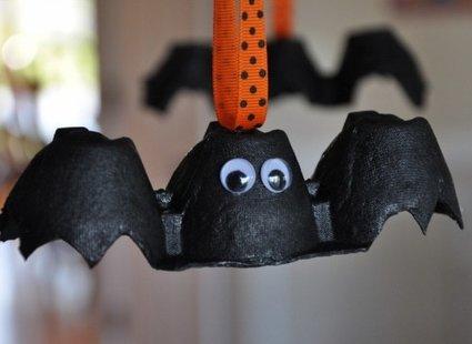 nietoperze z wytłaczanek na Halloween krok 4