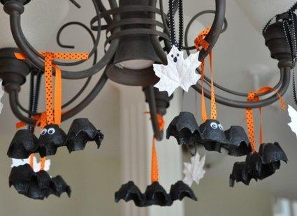 nietoperze z wytłaczanek na Halloween krok 5