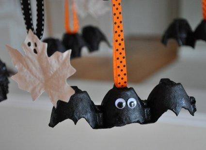 nietoperze z wytłaczanek na Halloween krok 6