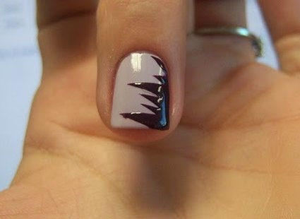 paznokcie ząbki - krok 4