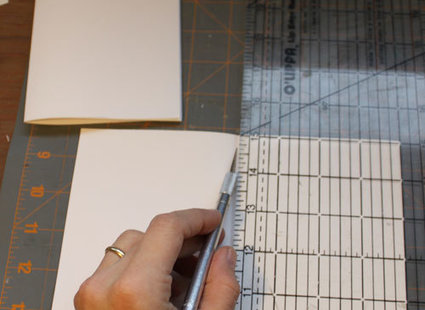 skórzany notatnik - krok 1