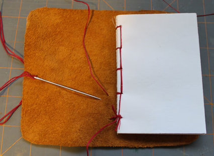 skórzany notatnik - krok 12