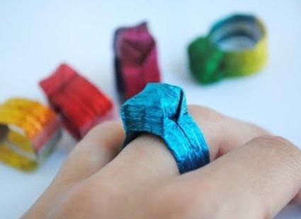 Pierścionek origami