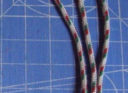 Bransoletka ze sznurka i materiału krok 1