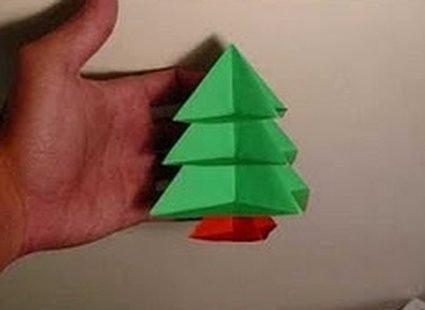 Choinka modułowa origami