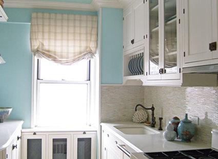 Kuchnia biało niebieska
