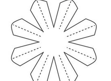 stokrotki z papieru - krok 4