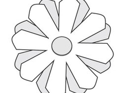 stokrotki z papieru - krok 7