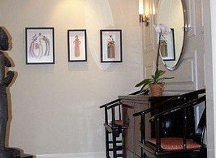 korytarz połączony z salonem