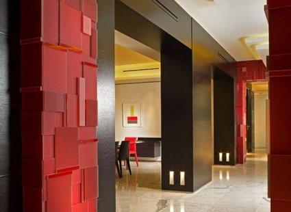 nowoczesna aranżacja korytarza