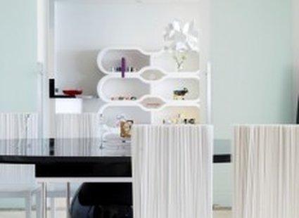 stylowe białe krzesła do jadalni
