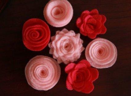 kwiatki z filcu