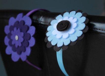 opaska z kwiatkiem z filcu