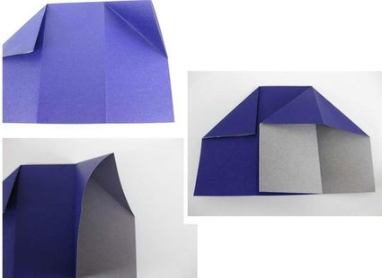 Robienie krzesła origami 8