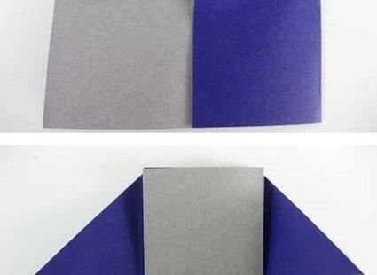 Robienie krzesła origami 11