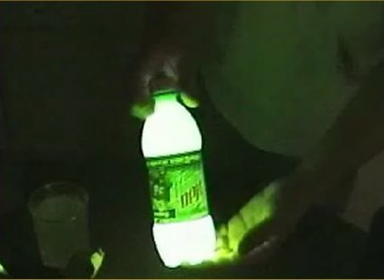 świecący napój