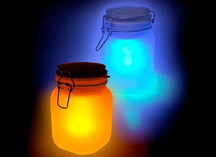 Kolorowe lampy słoneczne