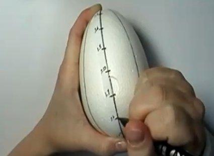 Dzielenie jajka na równe części