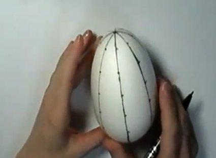 Kopiowanie linii na jajku