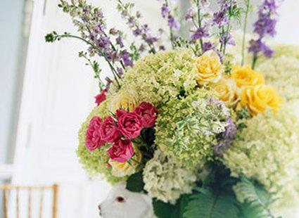 Duży bukiet kwiatów