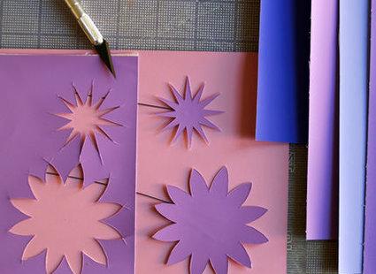 kwiatki z papieru - krok 2