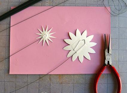 kwiatki z papieru - krok 3