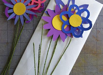 kwiatki z papieru - krok 6